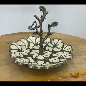 Cynthia Rowley enameled floral  jewelry holder